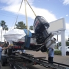 Triton 20XS on a trailer
